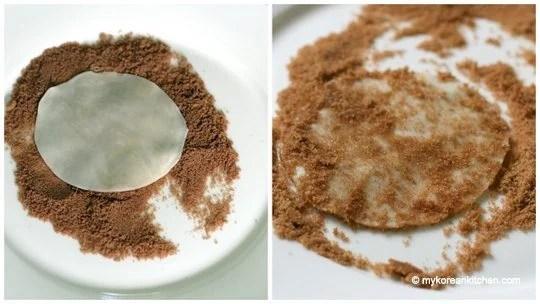 Sugar coating on dumpling skin