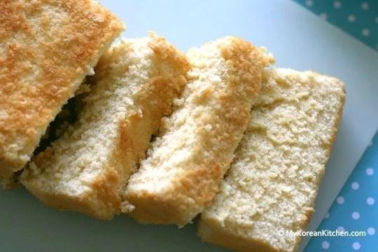 Beksul Castella Mix (Sweet Honey Sponge Cake - Pre mix version) sliced