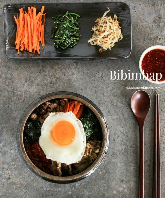 kitchen.com kitchen wire rack bibimbap korean mixed rice with meat and assorted vegetables my mykoreankitchen com