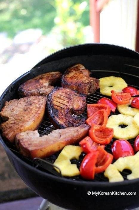 Chargrilled Korean Style BBQ Pork Chops   MyKoreanKitchen.com