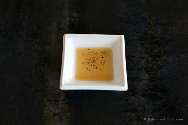 The ultimate Korean BBQ Dipping sauce #2. Sesame oil, salt and pepper sauce | MyKoreanKitchen.com