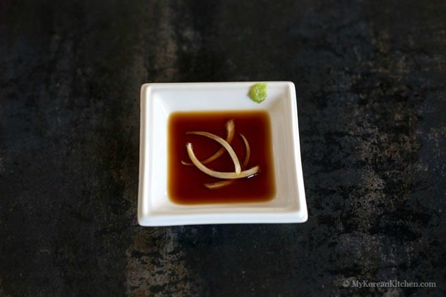 The ultimate Korean BBQ Dipping sauce #3. Wasabi and soy sauce | MyKoreanKitchen.com