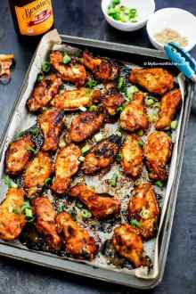 Baked Korean Chicken Wings. | MyKoreanKitchen.com
