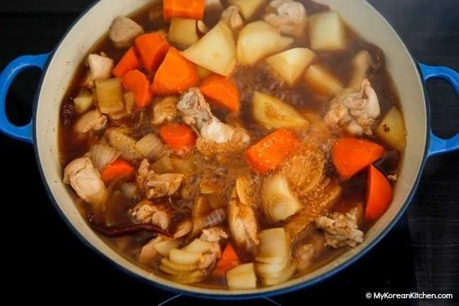 Jjimdak Vegetable Boiled