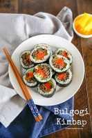 Bulgogi Kimbap (Bulgogi Seaweed Rice Rolls)   MyKoreanKitchen.com