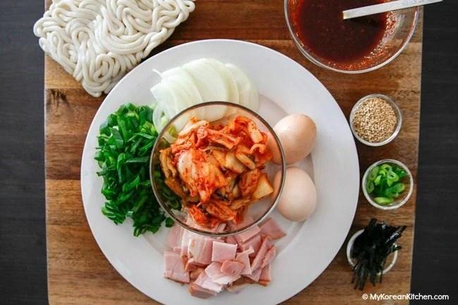 Kimchi Udon Noodle Stir Fry Ingredients