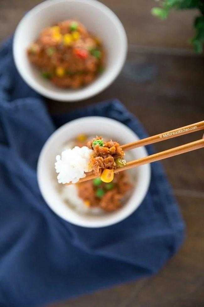 Spicy Tuna Rice Bowl | MyKoreanKitchen.com