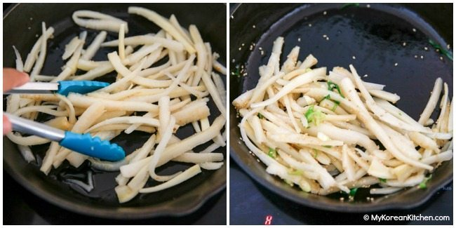 Doraji Namul (Korean bellflower root side dish)