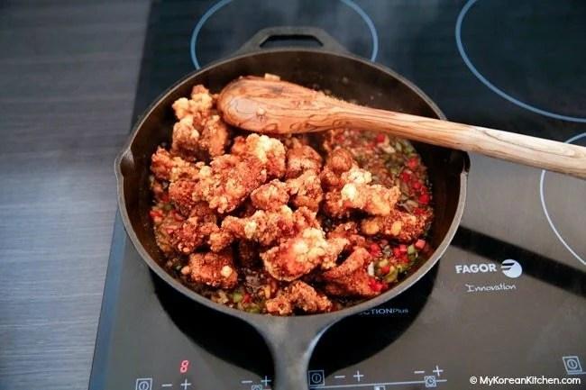 Stir Fry Chicken with Garlic Sauce