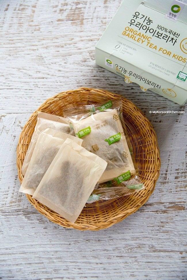 Korean barley tea for babies   MyKoreanKitchen.com