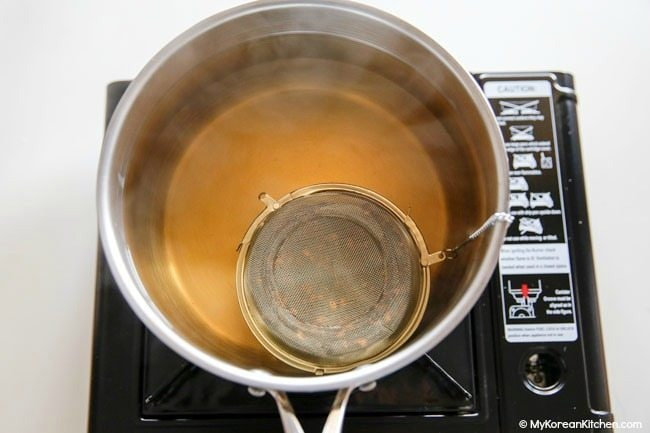 Brewing Korean Barley Tea