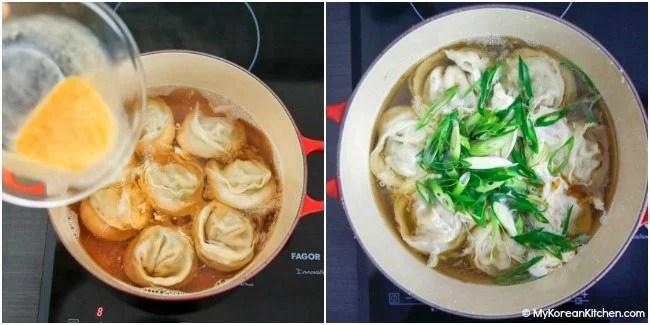 How to make Korean dumpling soup