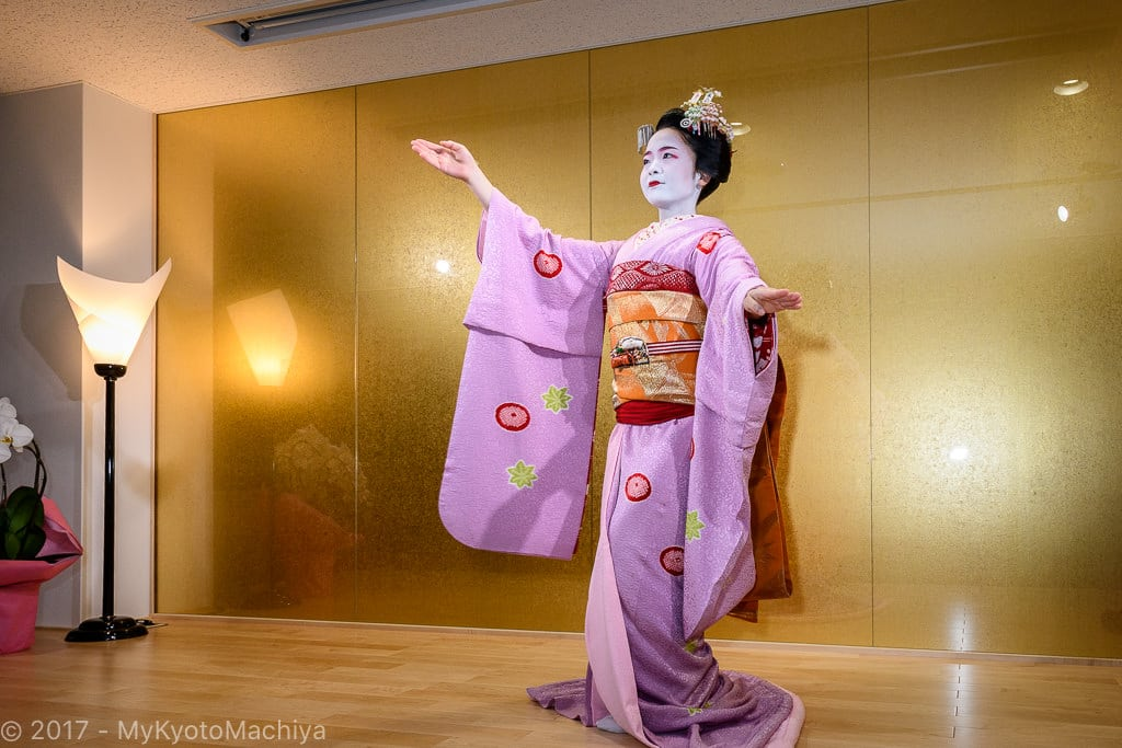 Maiko dancing at the Maiko Theater