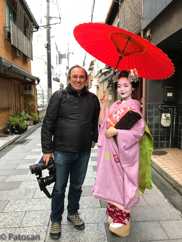 With maiko Fukutama around Miyagawa-cho