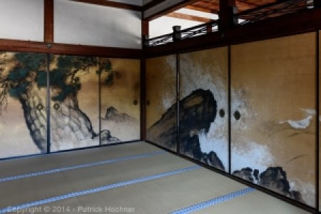 The painted doors of the Ninna-ji temple
