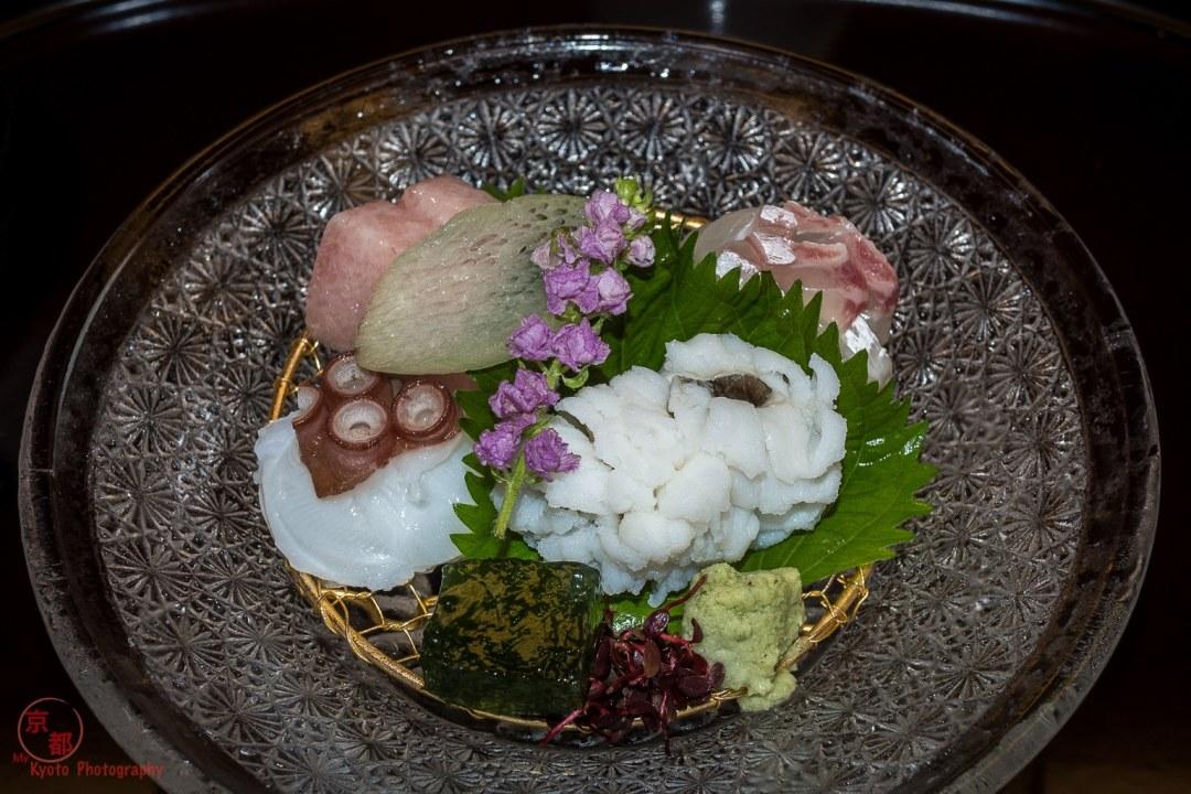 向付: Mukozuke: Sashimi raw fish