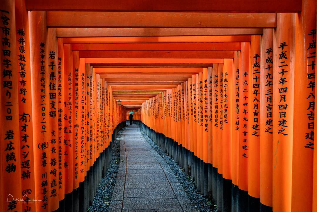 Fushimi Inari Taisha Shrine under snow, Kyoto
