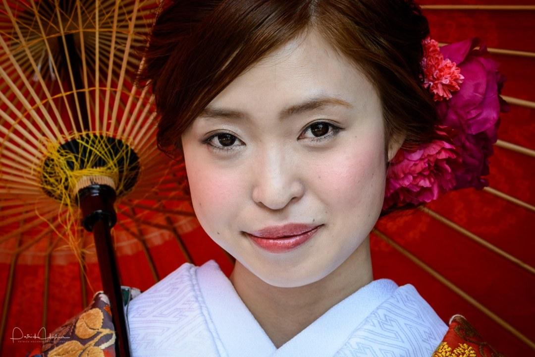 Bride, around Gion Shirakawa, Kyoto