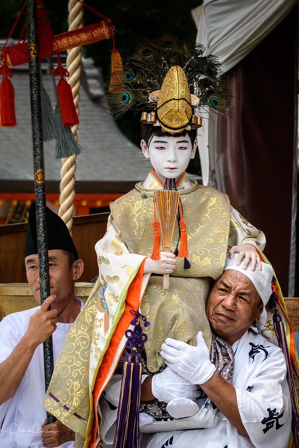 After the ritual, the Chigo or Celestial Messenger, becomes a high ranking lord and cannot touch the ground until July 17th