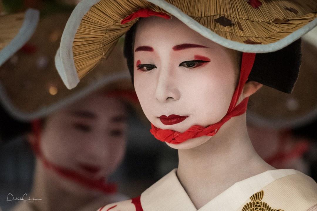 Maiko Fumino, during the Hanagasa procession, Gion Matsuri (Ato)