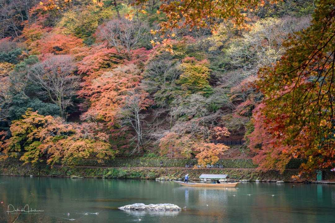 Boat on the Katsura River, Arashiyama, Kyoto