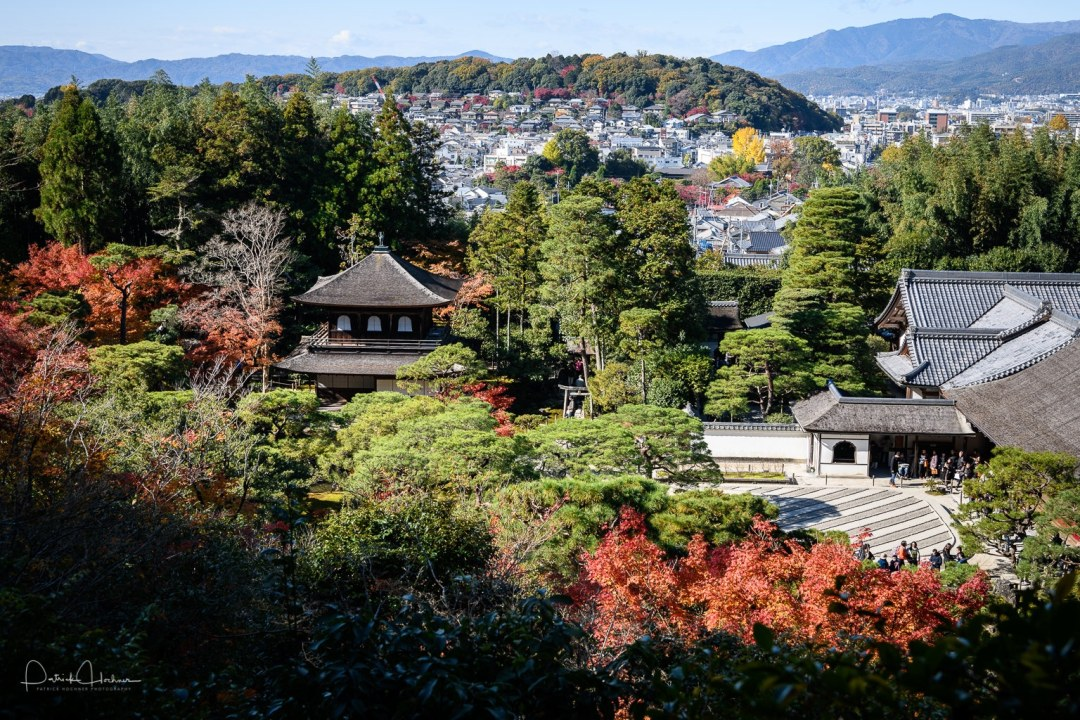 Ginkaku-ji, the Silver Pavilion, during the fall, Kyoto