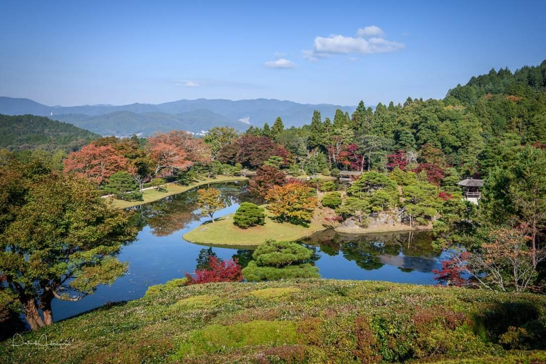 View of the garden, Sugakuin Imperial Villa, Kyoto