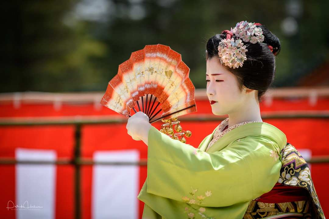 Maiko Fukuna of Miyagawa-Cho at the Heian Shrine Reisai Annual Festival, Kyoto