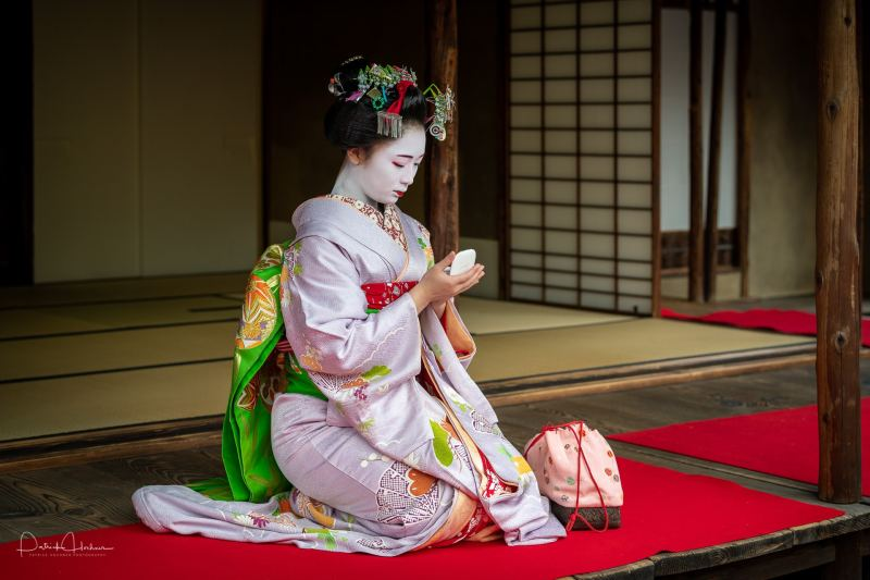 Portrait of Maiko Kosumi at the National Museum, Kyoto