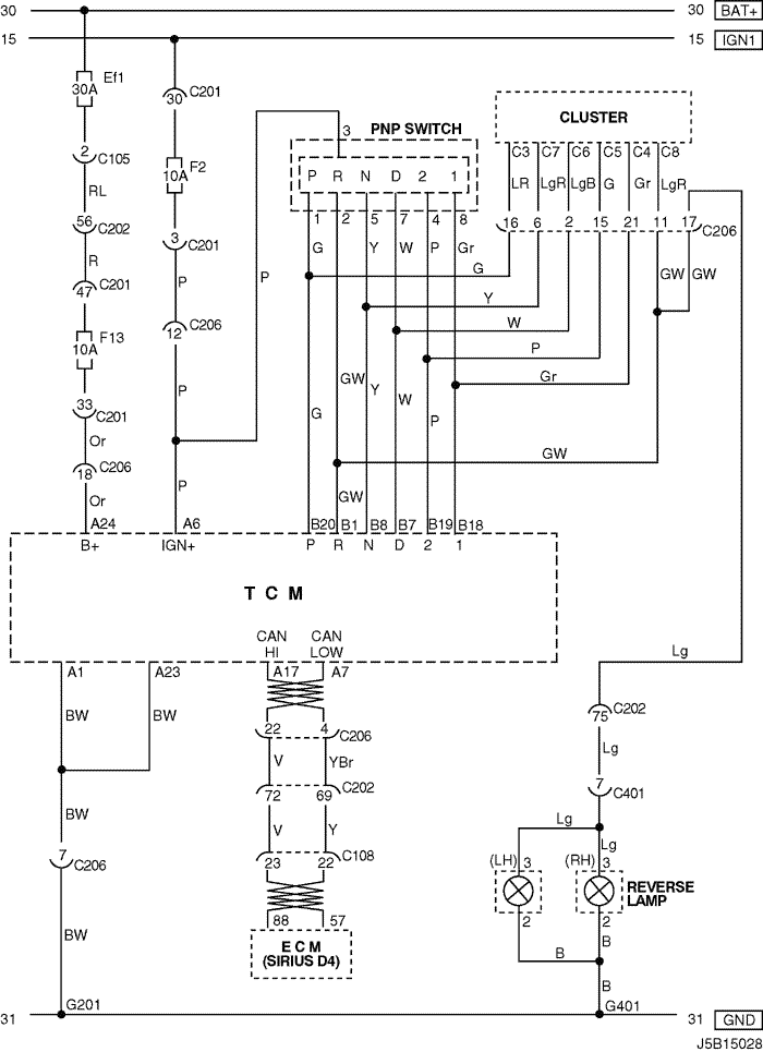 Electrical Wiring Diagram 2006 Nubira-Lacetti 6. TCM