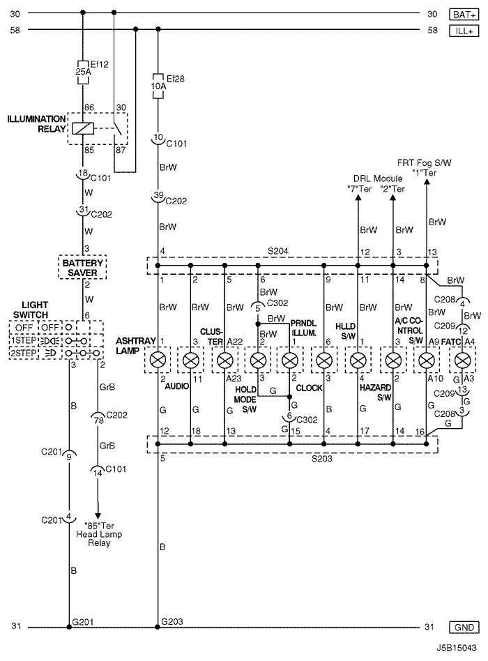 Electrical Wiring Diagram 2006 Nubira-Lacetti 12