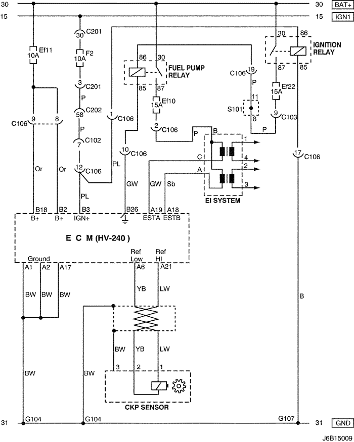 Electrical Wiring Diagram 2006 Nubira-Lacetti 3. ECM