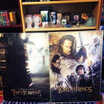 The largest items I own are these LOTR posters for TTT and #ROTK. My dad gave them to me years ago and I have no idea why I asked him to take the TTT out of the frame *sigh* It's also pretty roughed up on the corners because back when my pet rabbits were alive, I used it as a barrier sometimes haha and they chewed it a little. I should have taken better care of it! And the ROTK is still tucked safely behind the glass but as you can see, the glass has a huge crack on it. That actually isn't safe I should maybe do something about that...