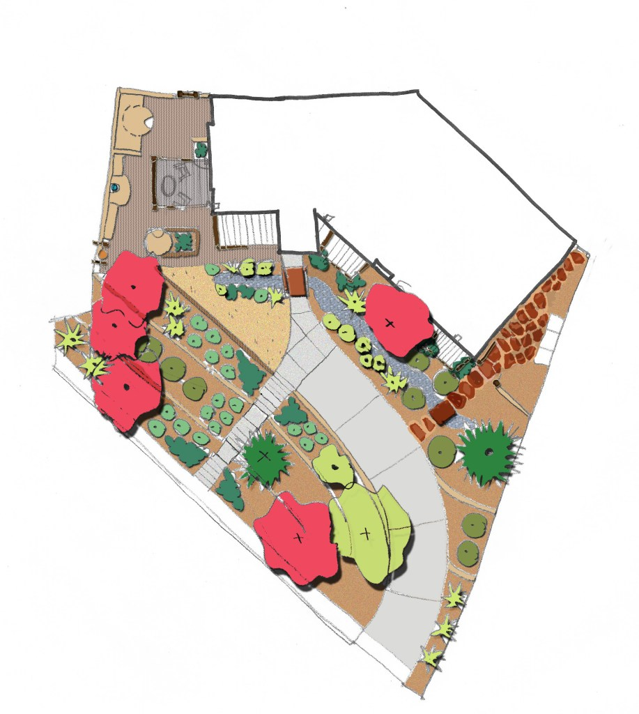 A master plan of your yard is of huge value when working on a project in phases. It helps you think through and understand the big picture.