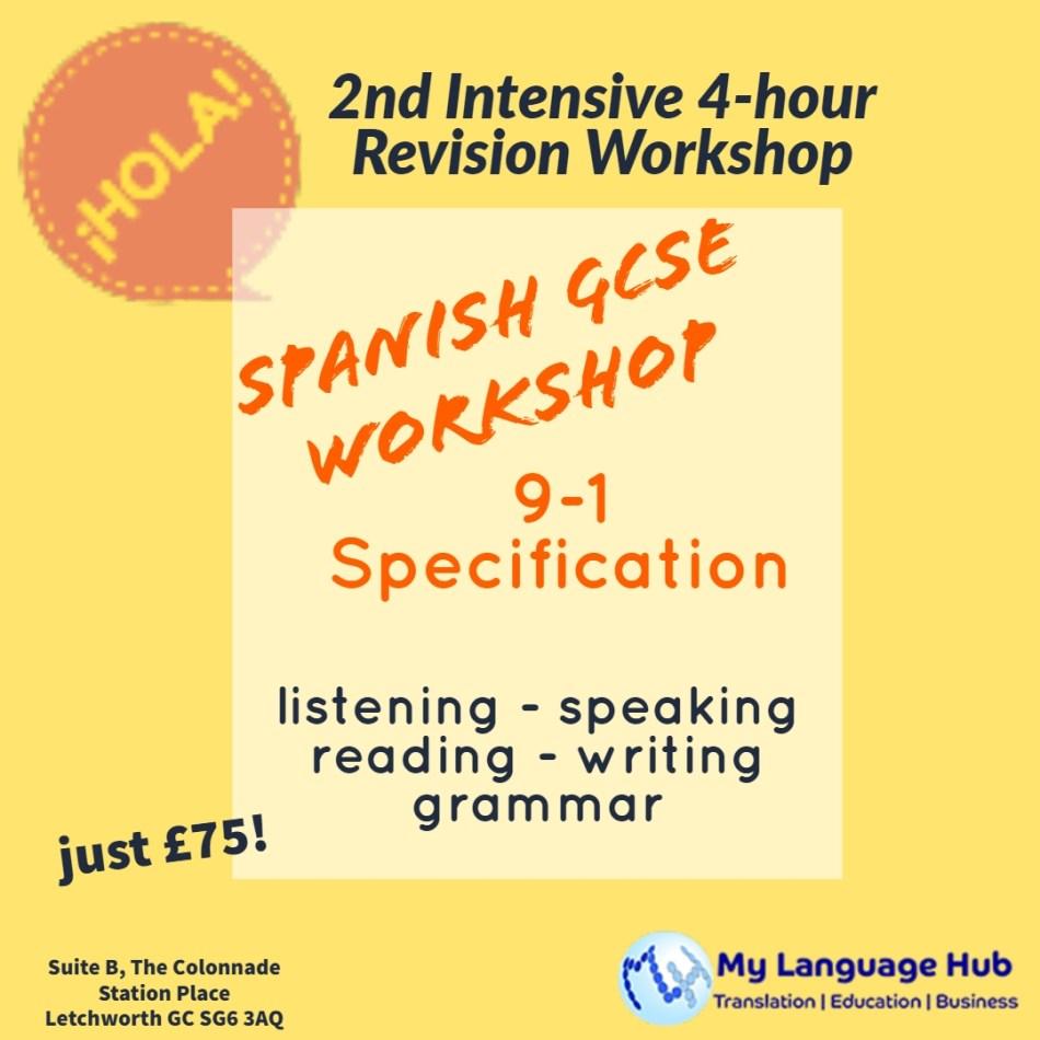 Spanish GCSE Intensive Exam Preparation Workshop - My Language Hub