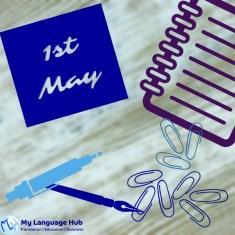 1-May: International Worker's Day  1 Mayo: Día Internacional del Trabajador