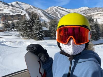 Day on a snowboard