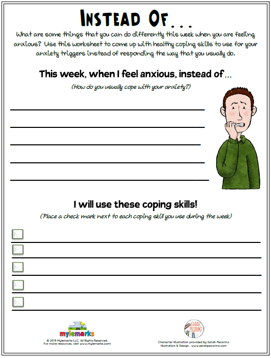 Anxiety Worksheets For Teens : anxiety, worksheets, teens, Instead, Of..., (Anxiety)