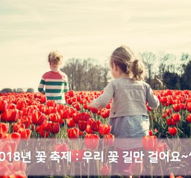 2018 꽃 축제 ㅣ 봄철 가 볼만한 여행지 추천, 우리 꽃 길만 걸어요~