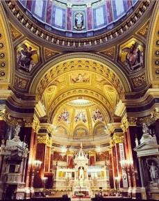 Inside St. Stephens Basilica Church