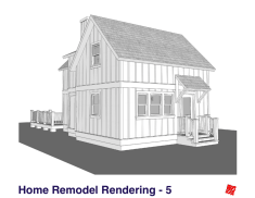 Small Home Renovation and Addition. Bengough Saskatchewan Canada-Front Exterior Elevations