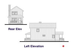 Rear, Left Elevation Plans-Custom Home | Virden, Manitoba