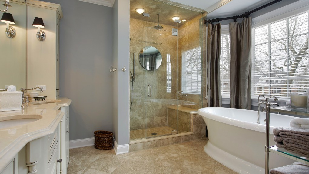 Custom Bathroom design by Myles Nelson McKenzie Design-Houzz Study Reveals Master Bathroom Trends