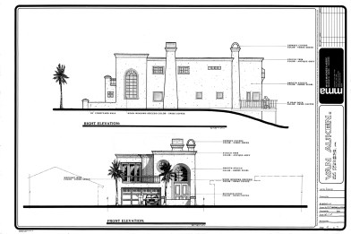 Italian Villa Design-Original hand drawn presentation plans by Myles Nelson McKenzie Design