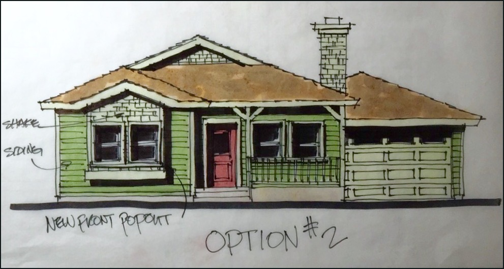 A concept home cottage design for clients in Santa Ana, California by Myles Nelson McKenzie Design.