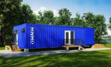 Metal Container Home Design Realistic 3D Renderings by Myles Nelson McKenzie Design