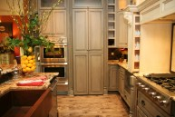Myles Nelson McKenzie Design-Design & Construction Plans for Kitchen Remodels 5-Aged Soft Green and Off White Cabinets