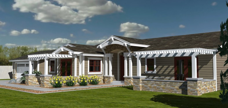 Residential and Commercial Realistic 3D Renderings-Cottage Home Remodel Design