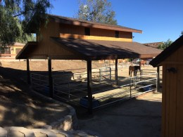 Custom Open Horse Stable, Orange Acres, California-Rear View