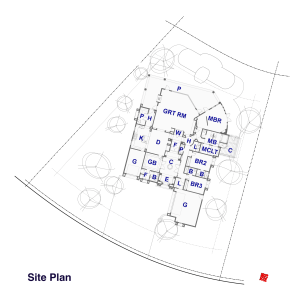 Custom Villa Home Design at Big Horn - Site Plan